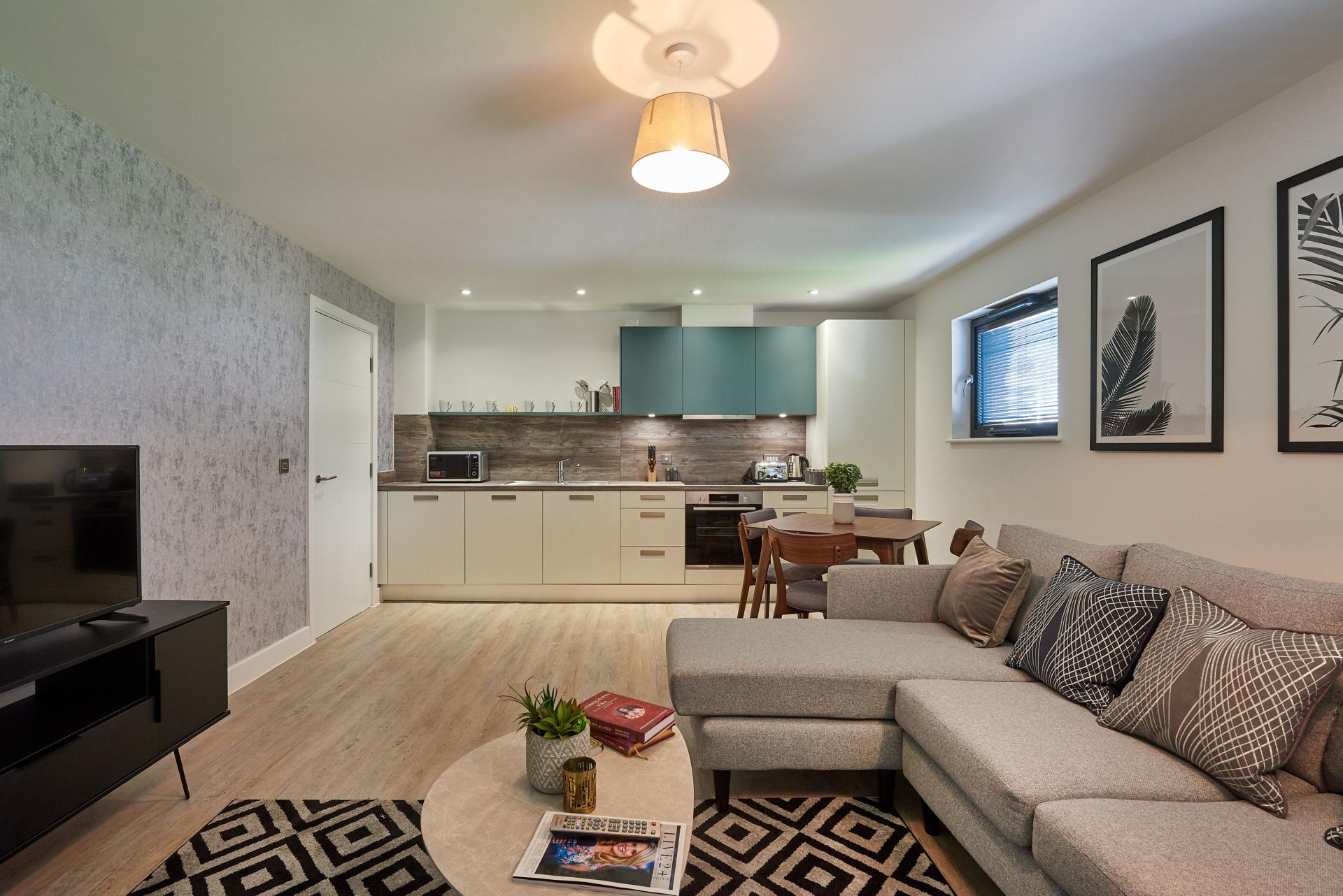 Open plan area at Tennant Street Apartments - Citybase Apartments