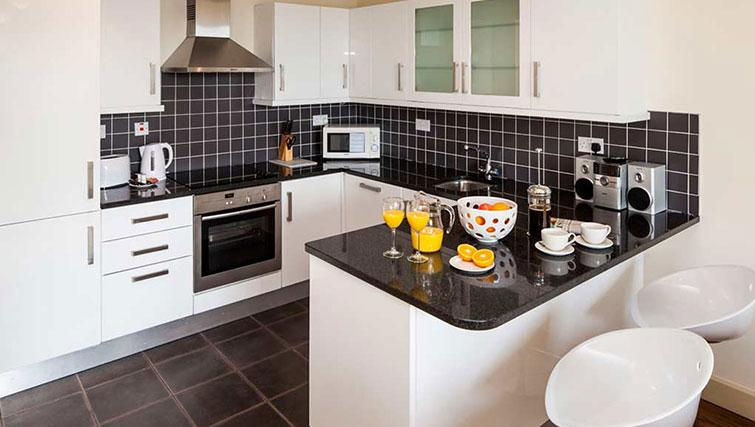 Kitchen in South Dock Apartments - Citybase Apartments