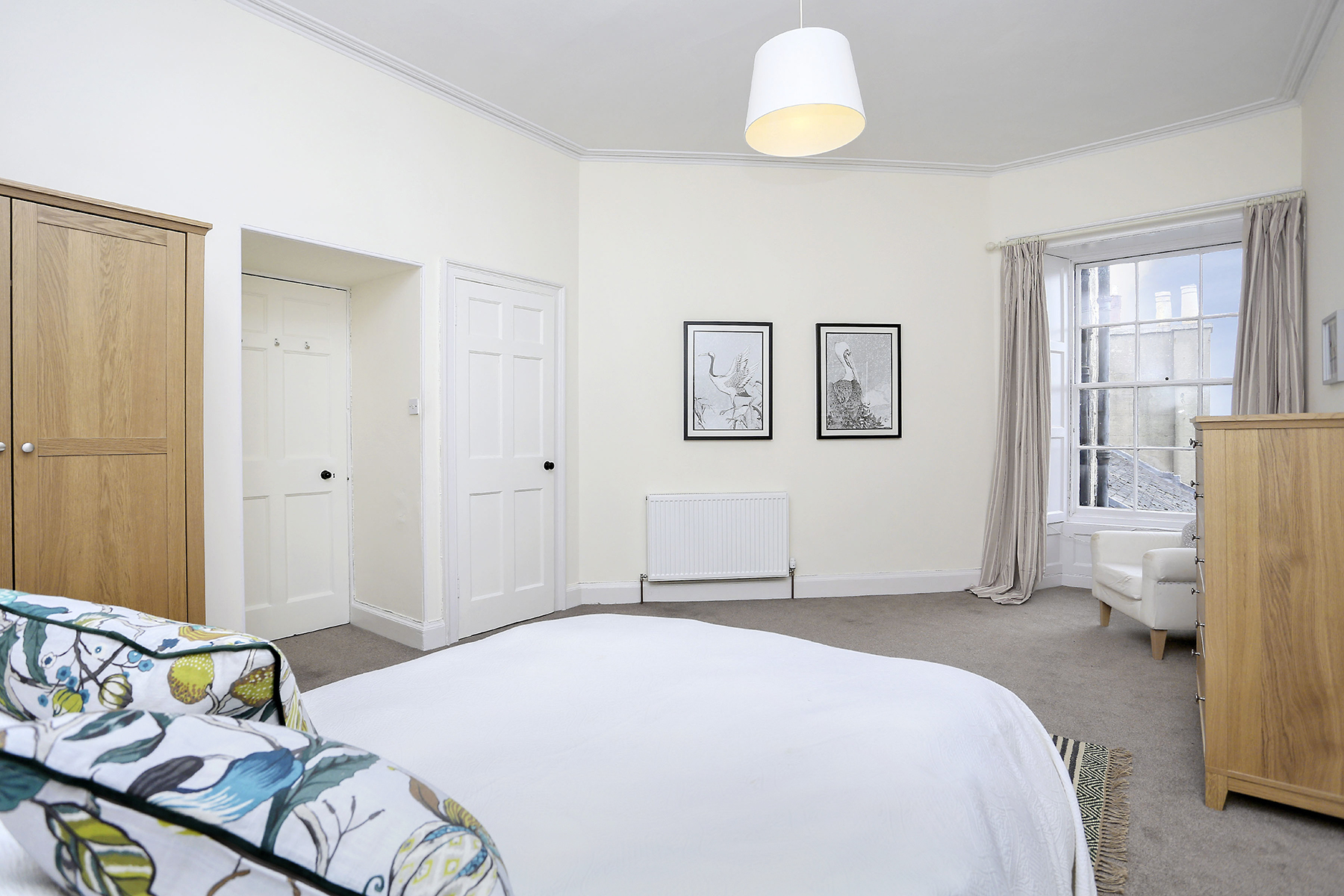 Master Bedroom at The New Town Apartment, Bonnington, Edinburgh - Citybase Apartments