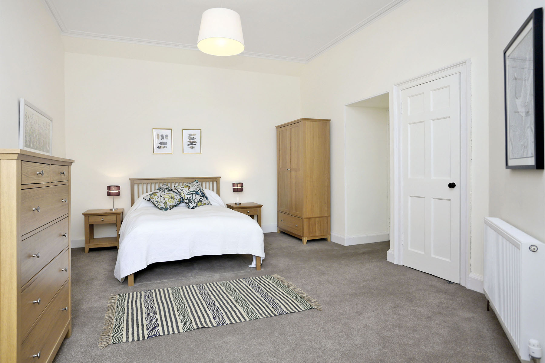 Bedroom at The New Town Apartment, Bonnington, Edinburgh - Citybase Apartments