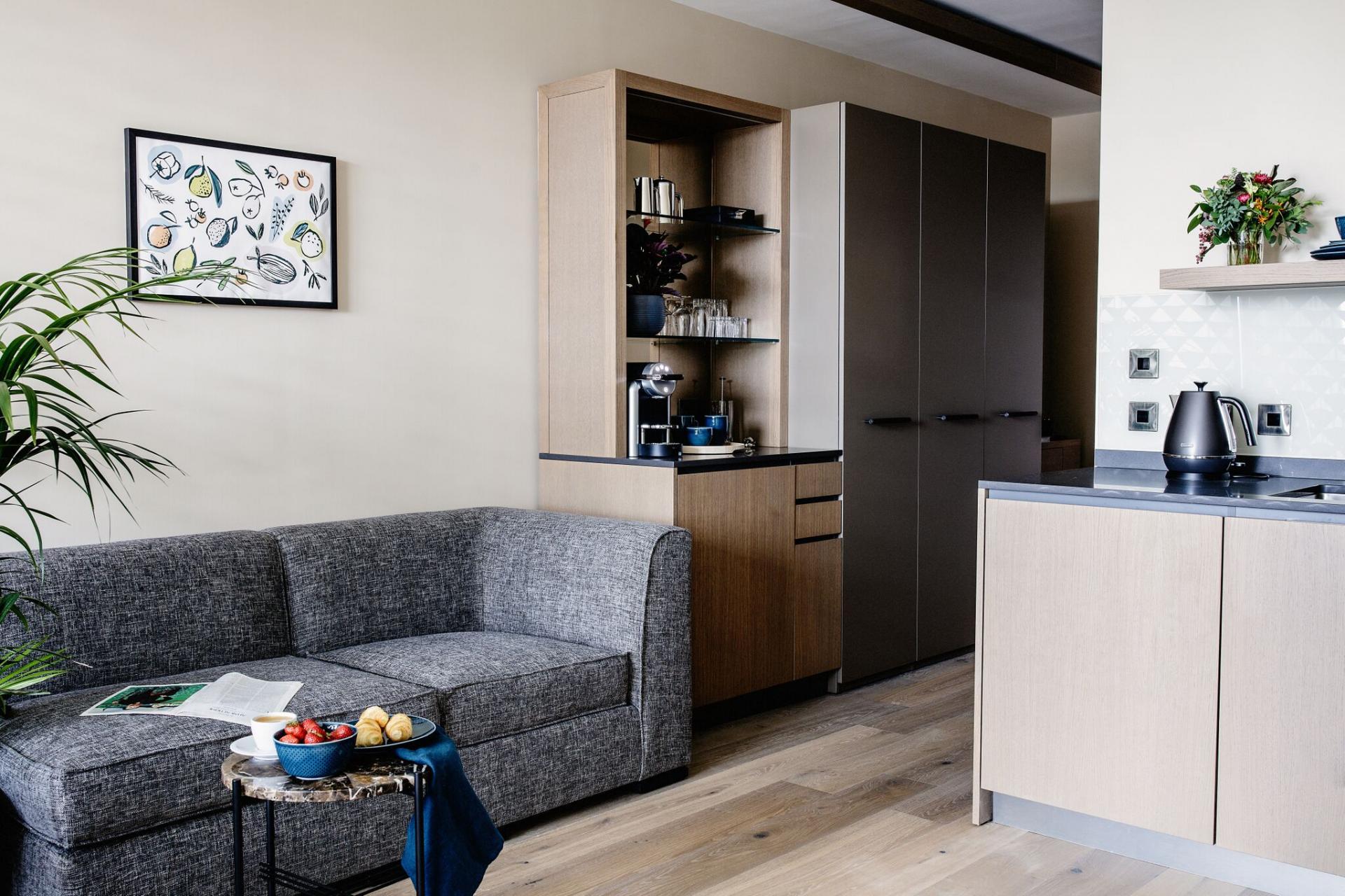 Sofa at Park Residence at Herbert Park Hotel - Citybase Apartments