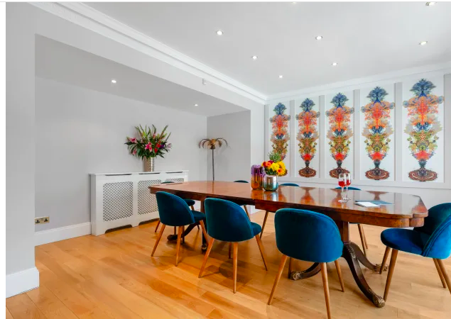 Dining table at Marble Arch - Citybase Apartments