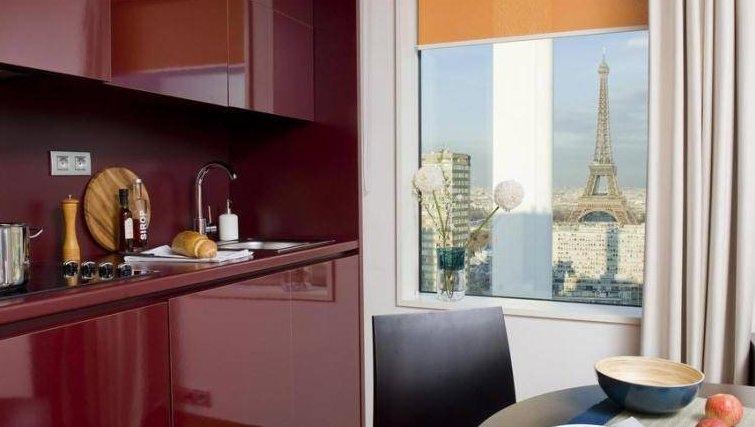 Sophisticated kitchen in Adagio Paris Centre Tour Eiffel - Citybase Apartments