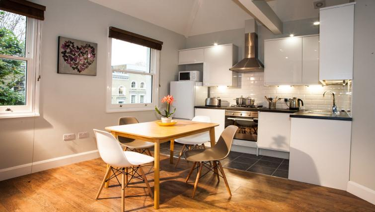 Kitchen overview at Hammersmith Town Apartments - Citybase Apartments
