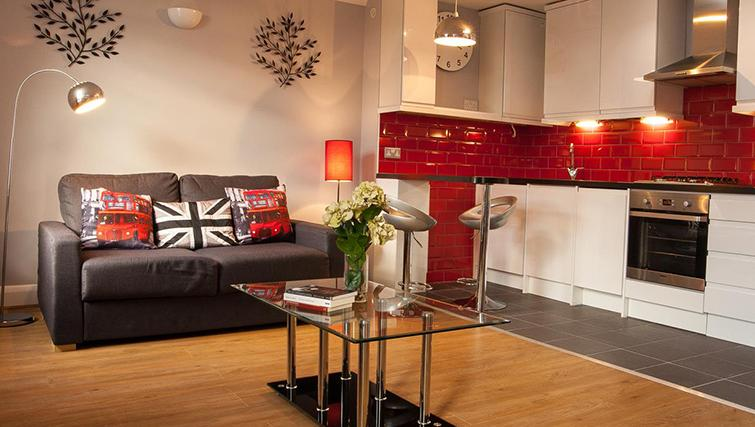 Spacious living area at Hammersmith Town Apartments - Citybase Apartments