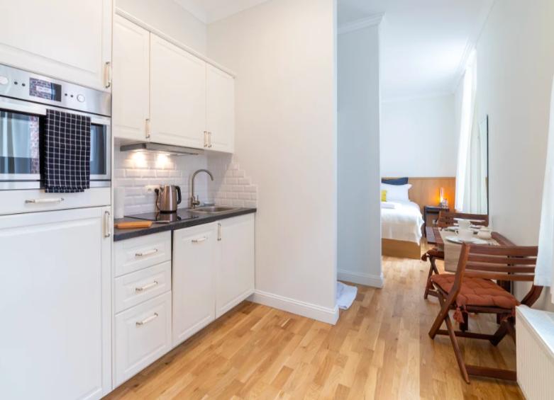Kitchen at Dansaert II Studio - Citybase Apartments