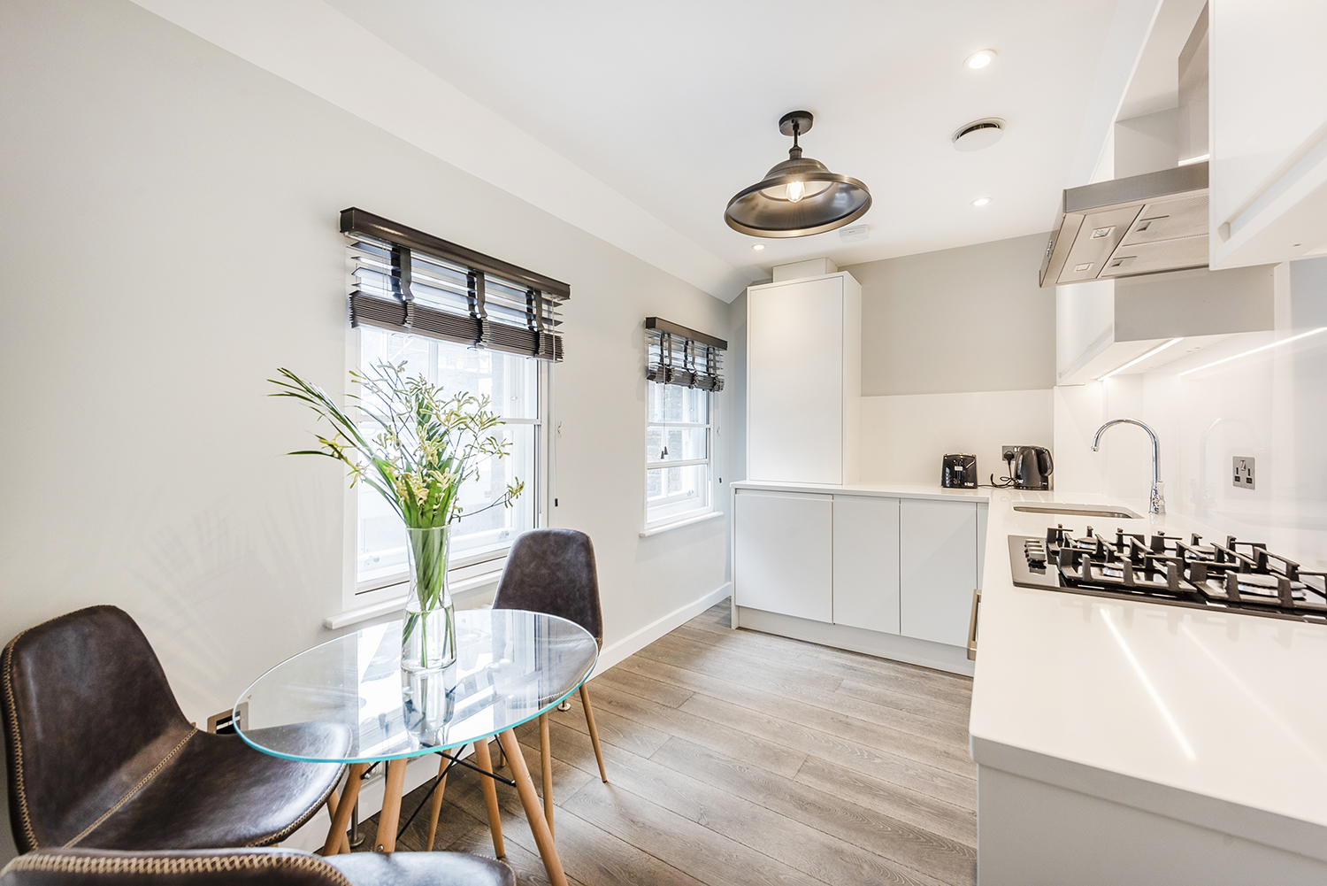 Kitchen at BE: Wardour Street Apartments - Citybase Apartments