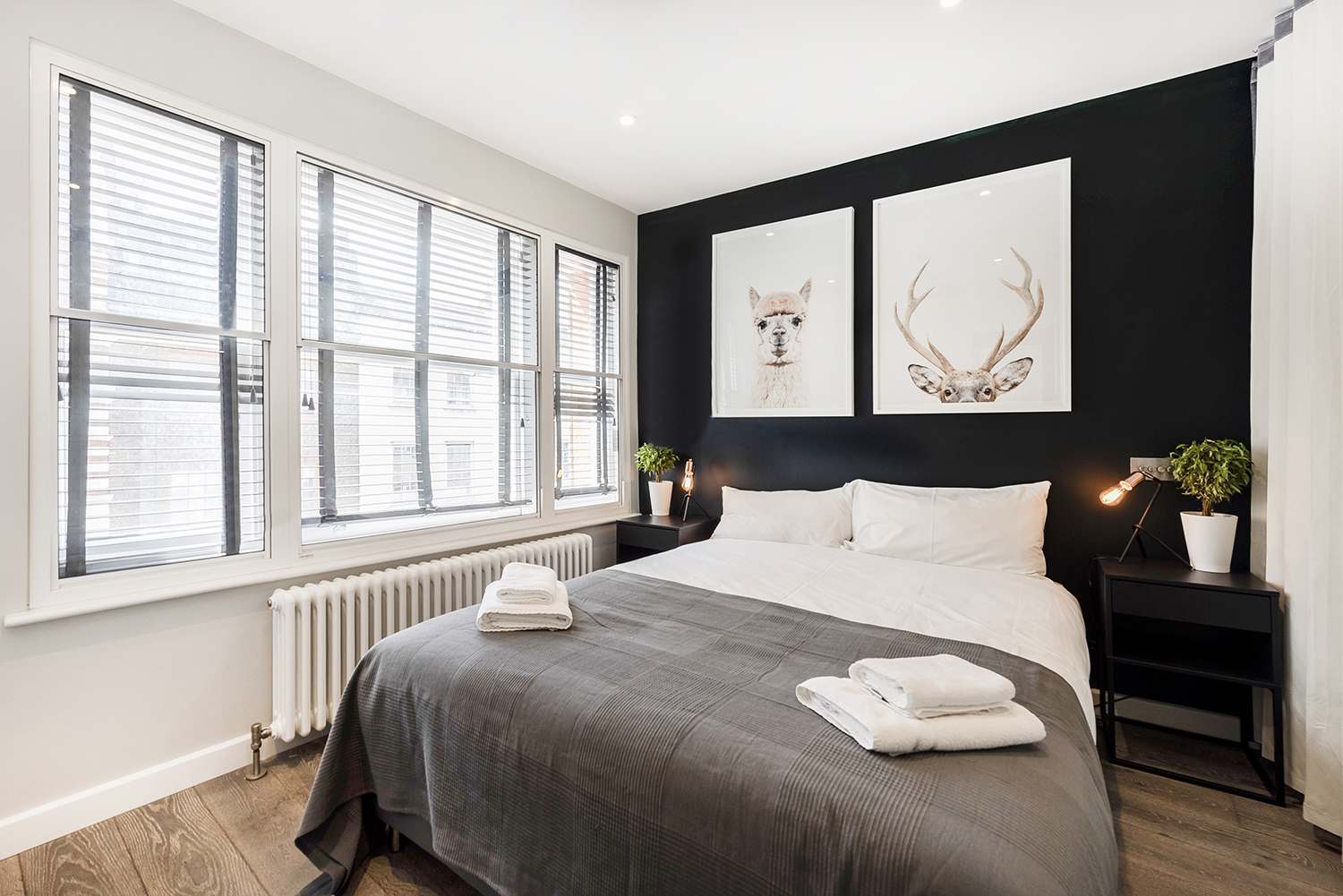 Bed at BE: Wardour Street Apartments - Citybase Apartments