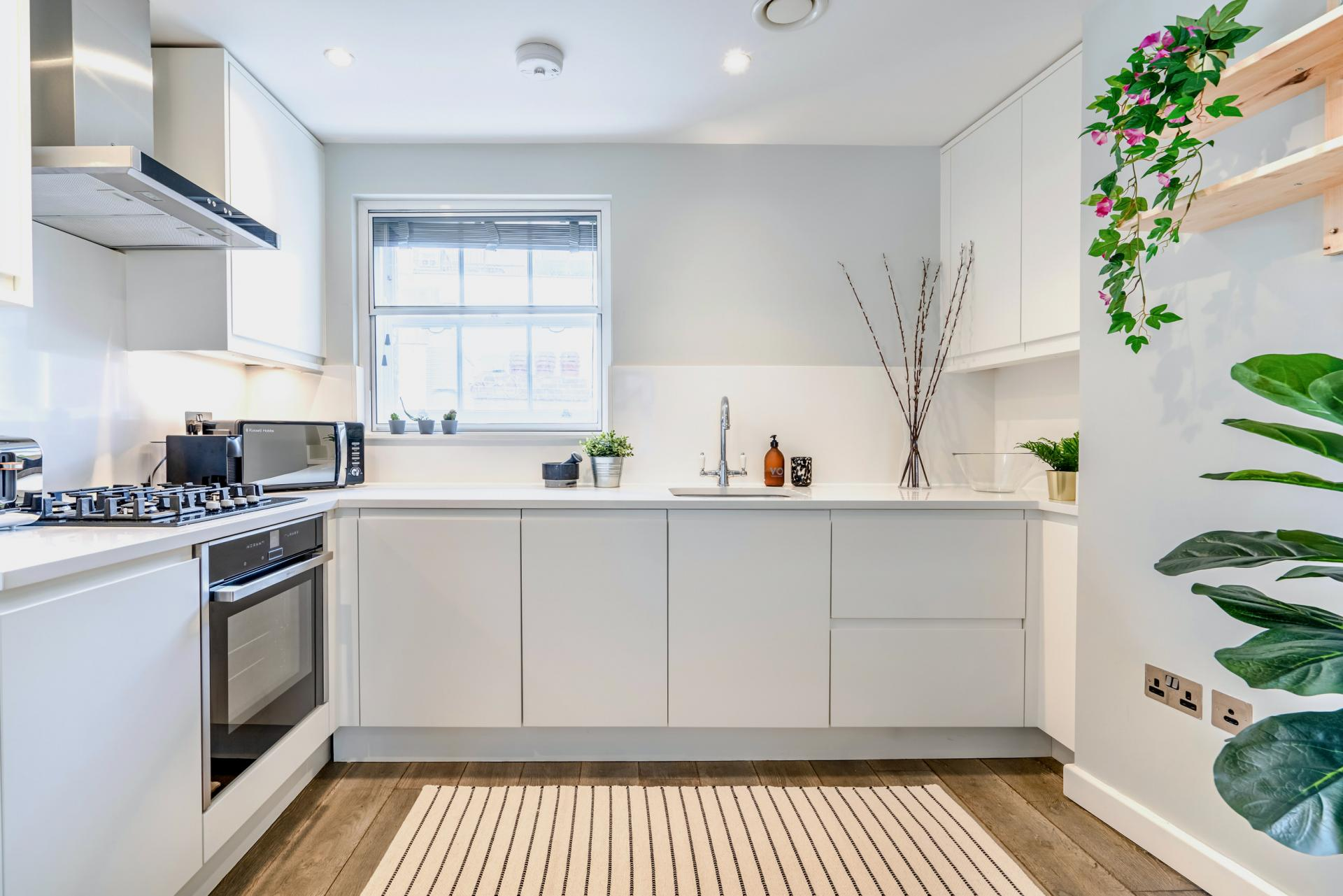 Kitchen at BE: Wardour Street Apartments, Soho, London - Citybase Apartments