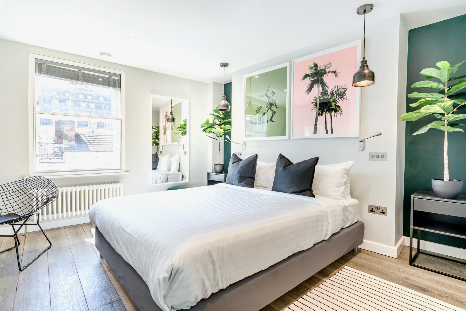 Bedroom at BE: Wardour Street Apartments, Soho, London - Citybase Apartments