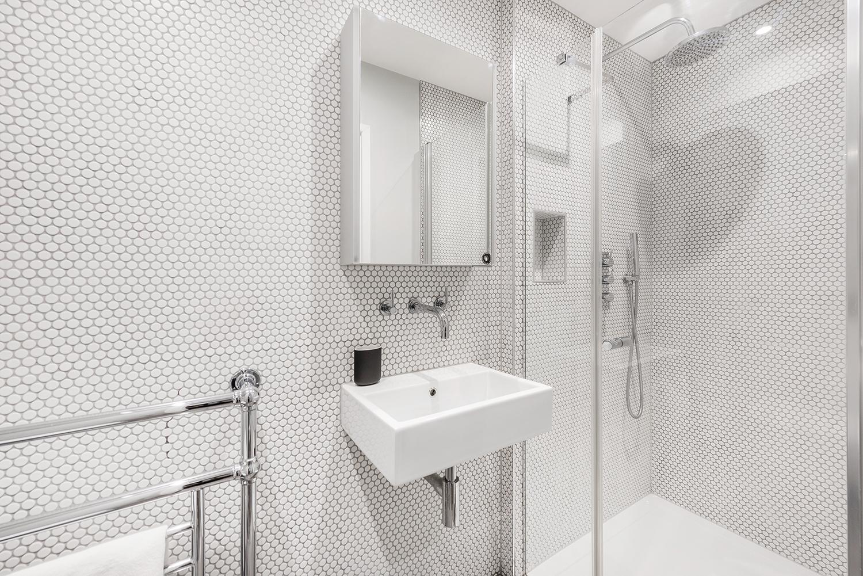 Shower at BE: Wardour Street Apartments, Soho, London - Citybase Apartments