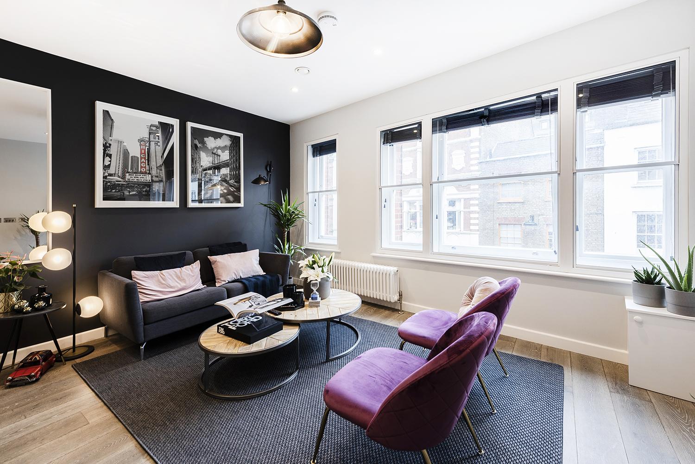 Chairs at BE: Wardour Street Apartments, Soho, London - Citybase Apartments