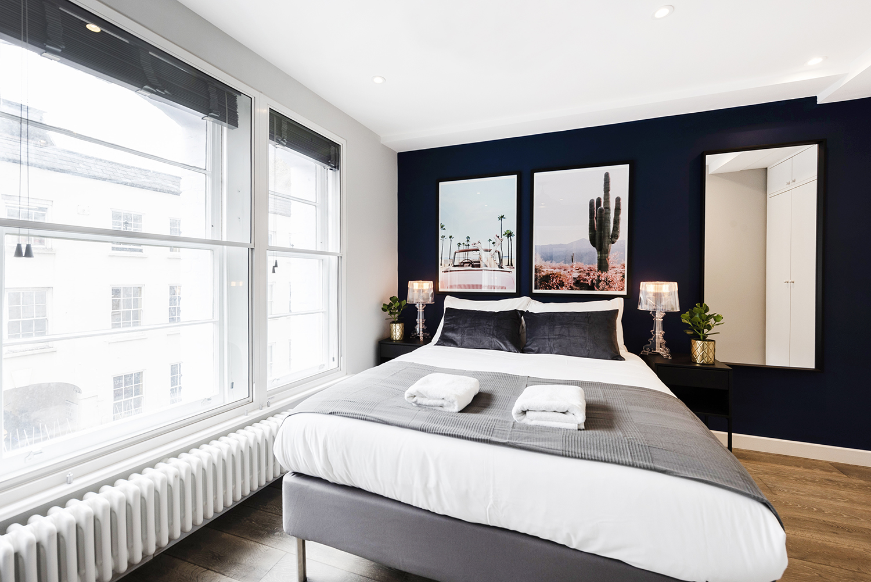 Large windows at BE: Wardour Street Apartments, Soho, London - Citybase Apartments