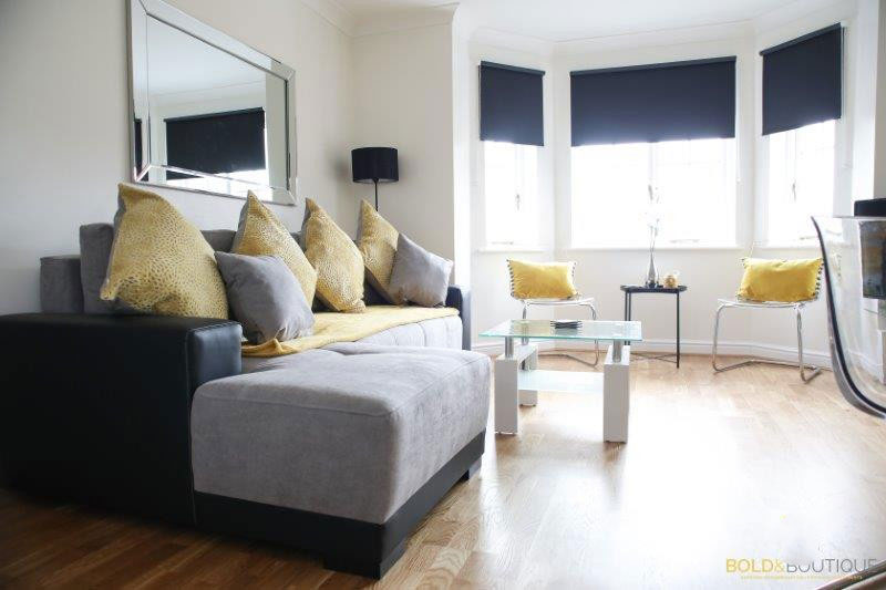 Living area at The Clock Tower Apartment, Newton, Chester - Citybase Apartments