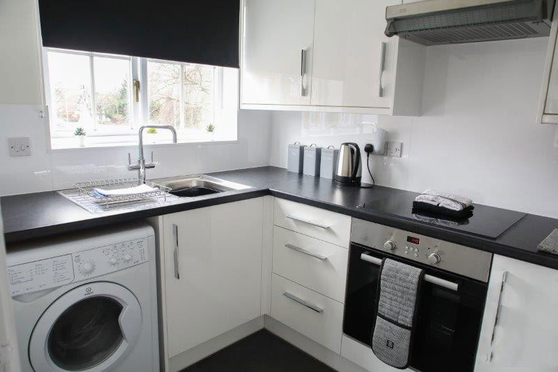 Kitchen at The Clock Tower Apartment, Newton, Chester - Citybase Apartments