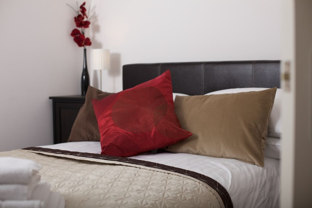 Comfortable bedroom at West Mews Apartments - Citybase Apartments