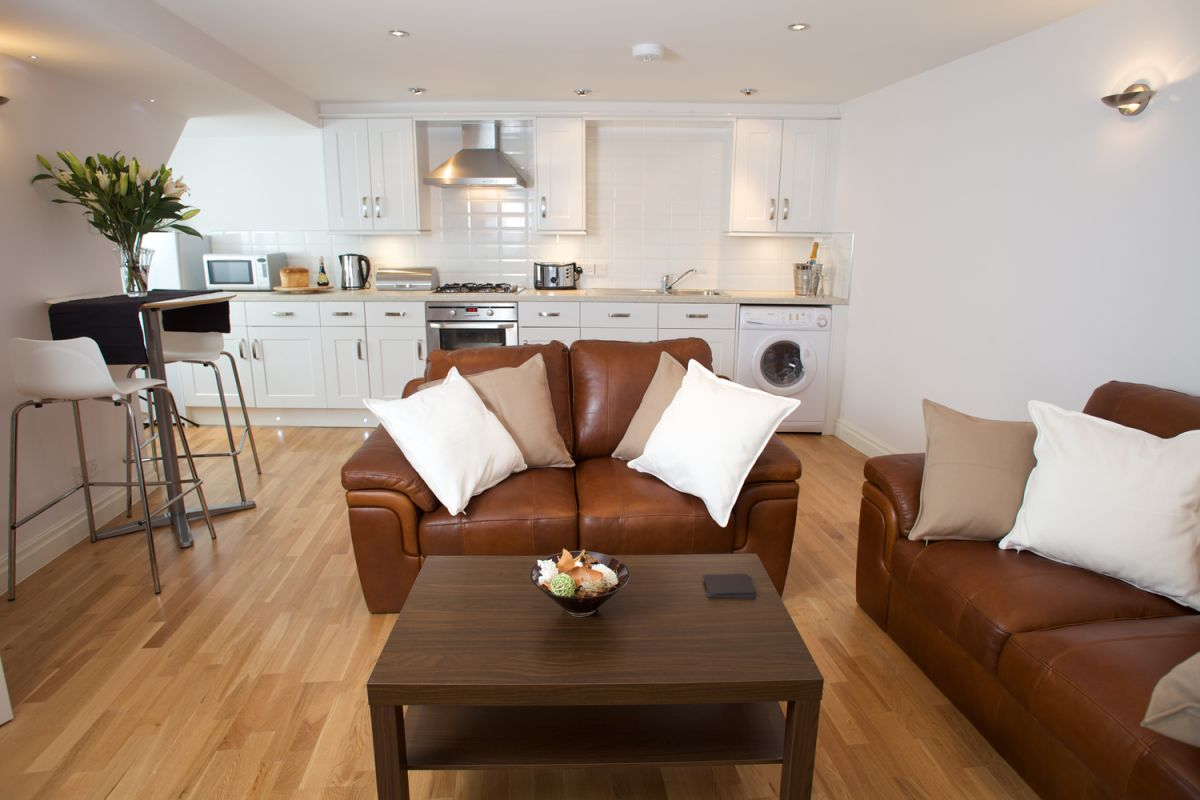 Living room at West Mews Apartments - Citybase Apartments