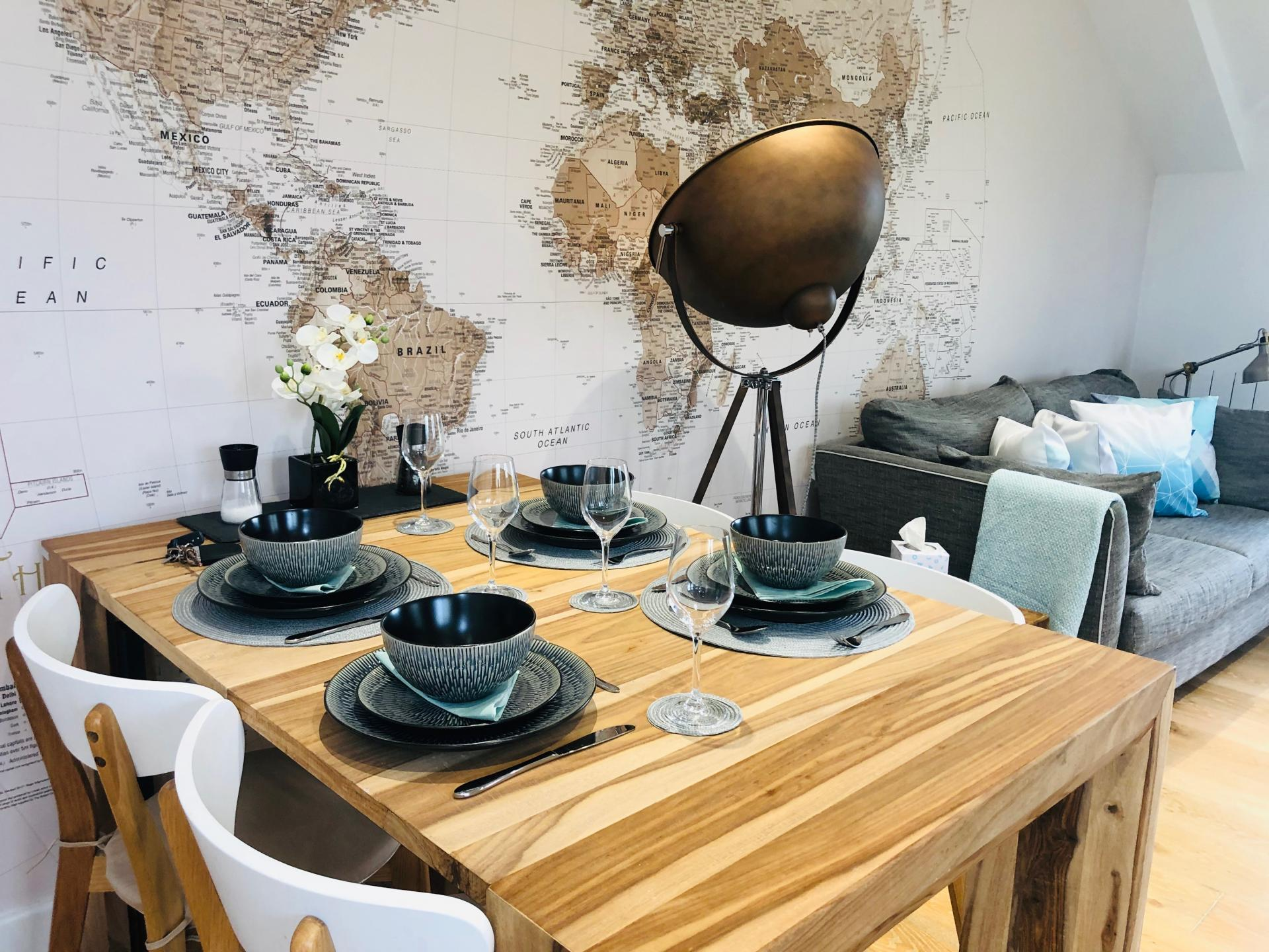 Table at Newmarket Road apartment - Citybase Apartments