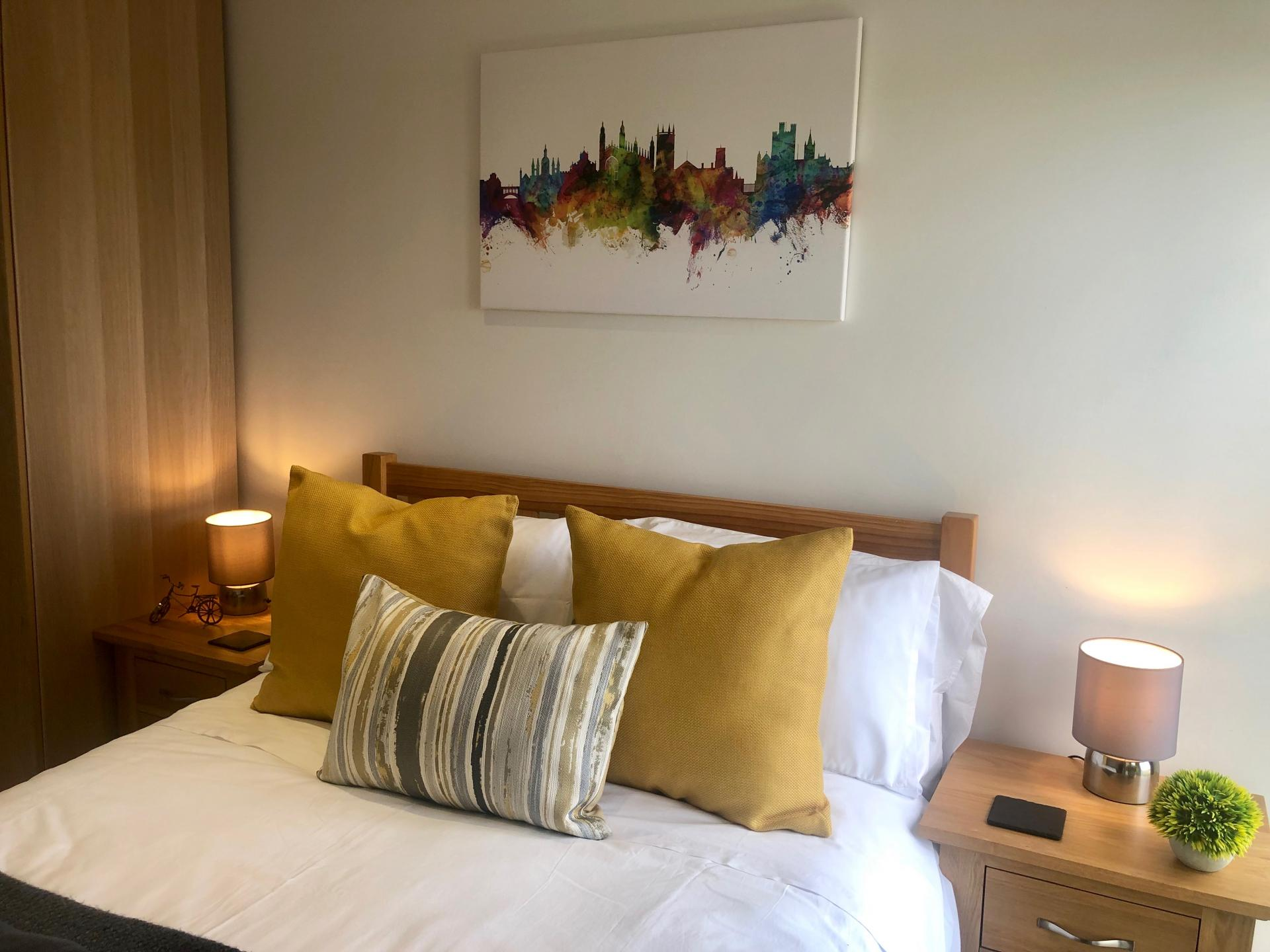 Bed at Newmarket Road apartment - Citybase Apartments