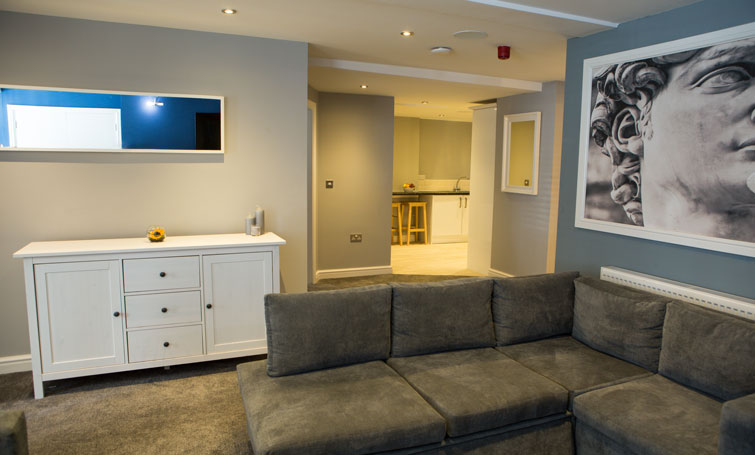 Sofa at The Townhouse Chester, Centre, Chester - Citybase Apartments
