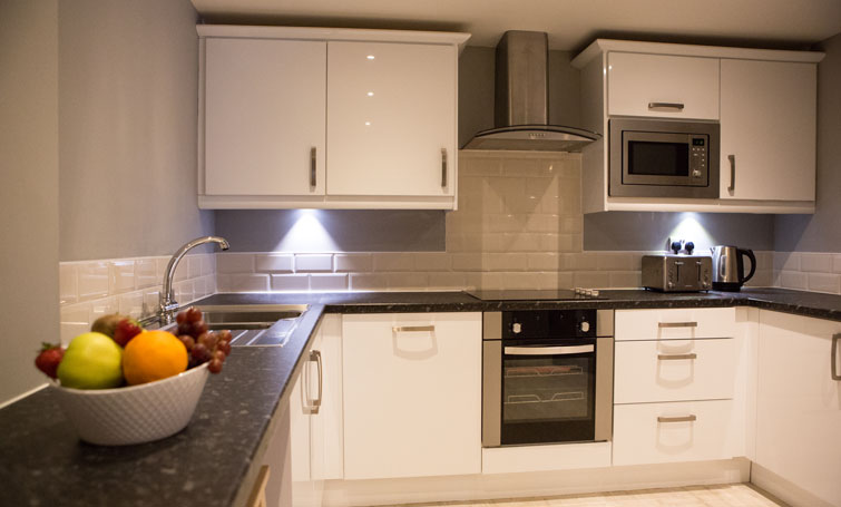 Kitchen at The Townhouse Chester, Centre, Chester - Citybase Apartments