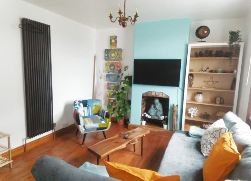 Lounge at West View Terrace House, Centre, Exeter - Citybase Apartments