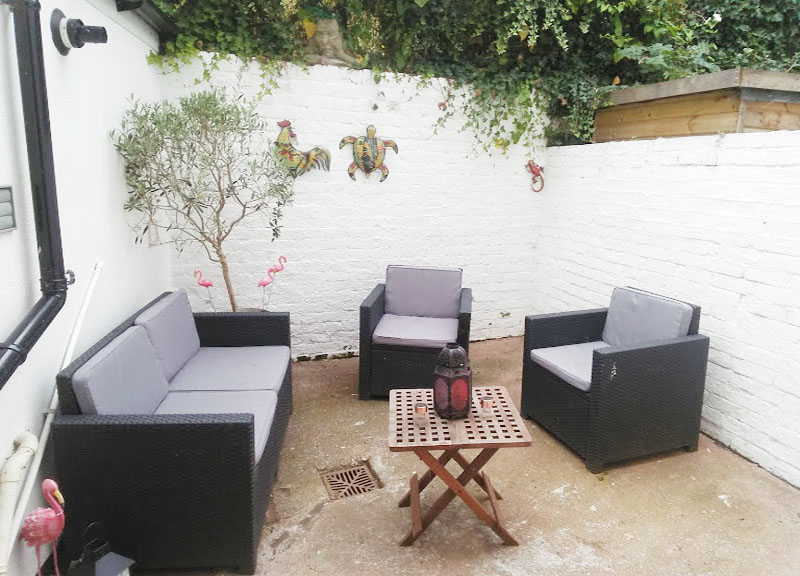 Patio at West View Terrace House, Centre, Exeter - Citybase Apartments