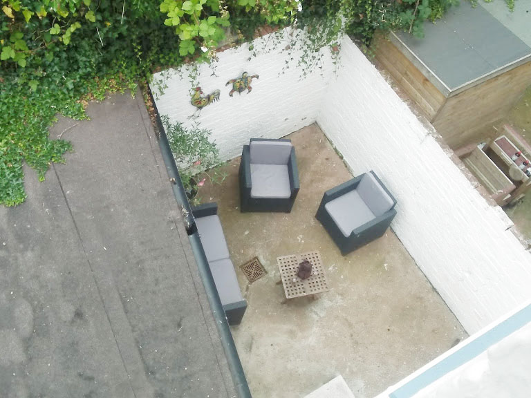 Birdseye view at West View Terrace House, Centre, Exeter - Citybase Apartments