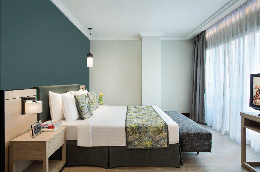 Modern bedroom at Somerset Grand Citra Apartments - Citybase Apartments