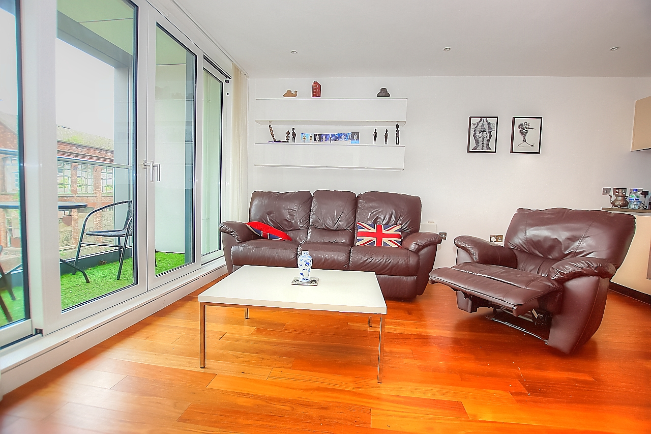 Lounge at Munday Street Apartment, New Islington, Manchester - Citybase Apartments