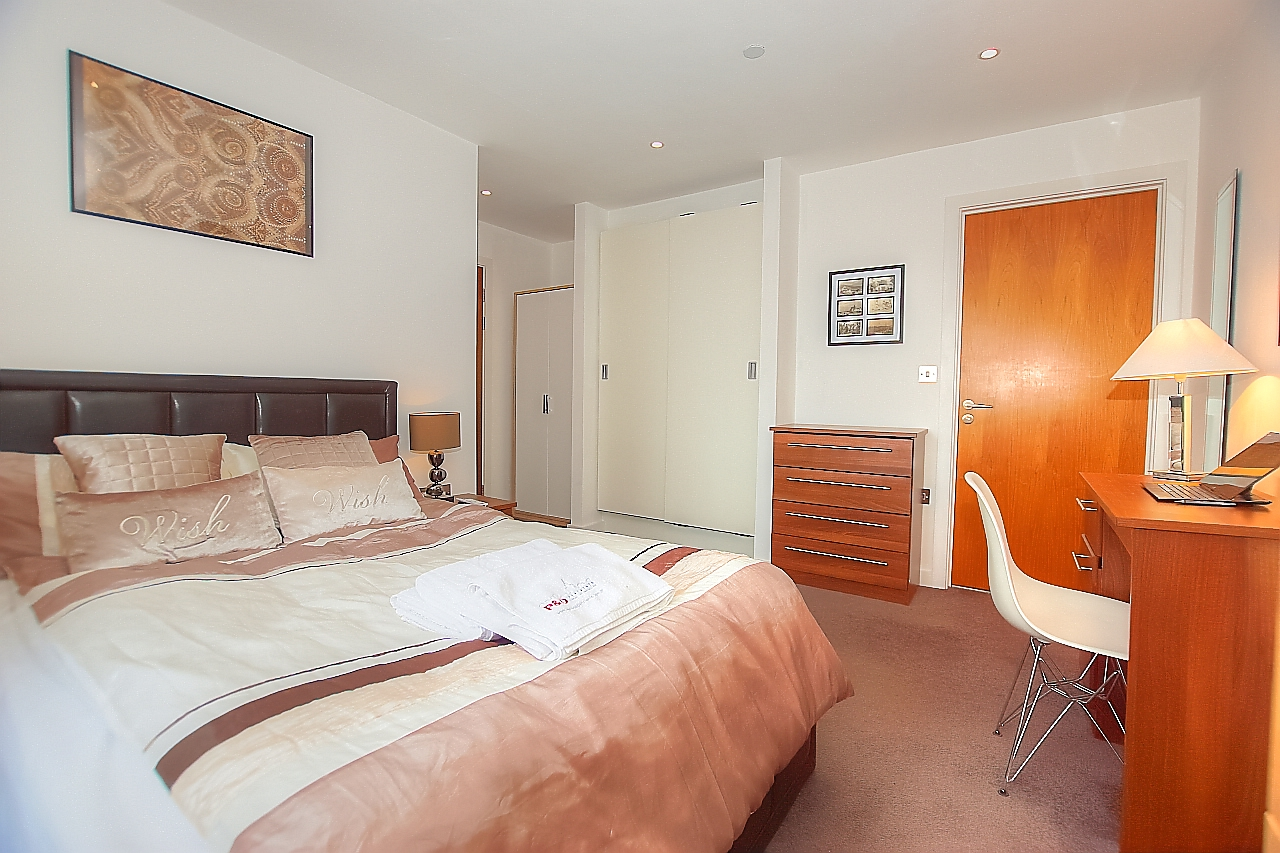 Bed at Munday Street Apartment, New Islington, Manchester - Citybase Apartments
