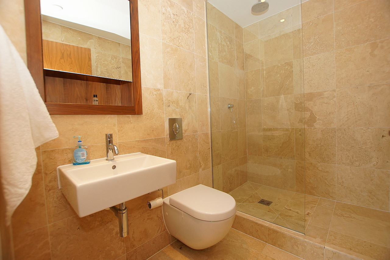 Shower at Munday Street Apartment, New Islington, Manchester - Citybase Apartments
