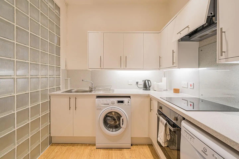 Kitchen at Grassmarket Apartment - Citybase Apartments
