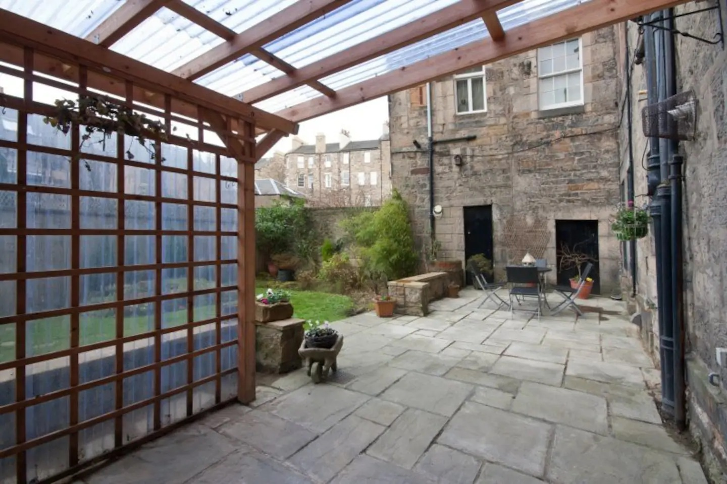 Patio at Abercromby Place - Citybase Apartments