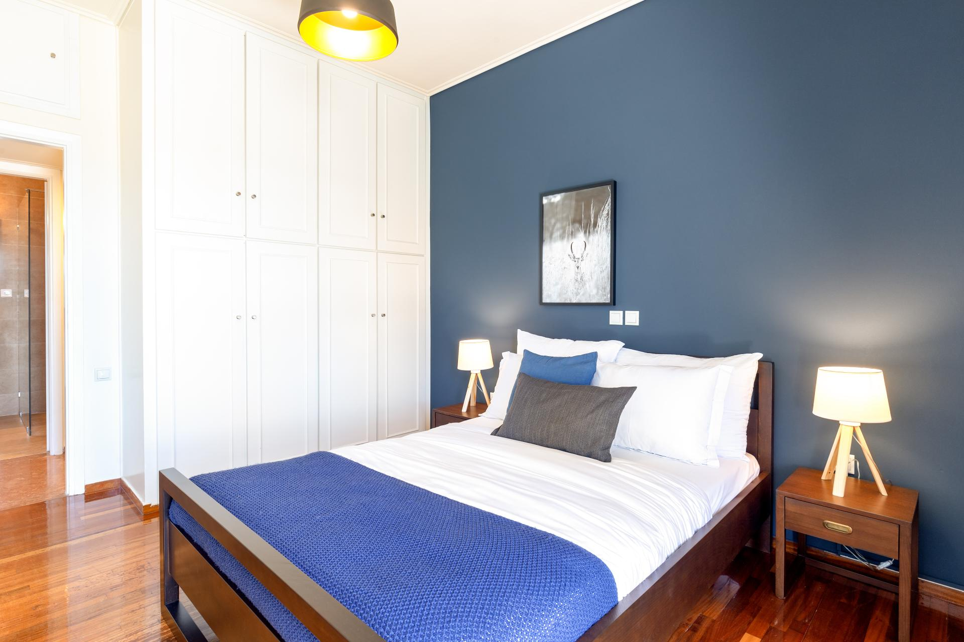 Bedroom at Acharnon Apartment - Citybase Apartments