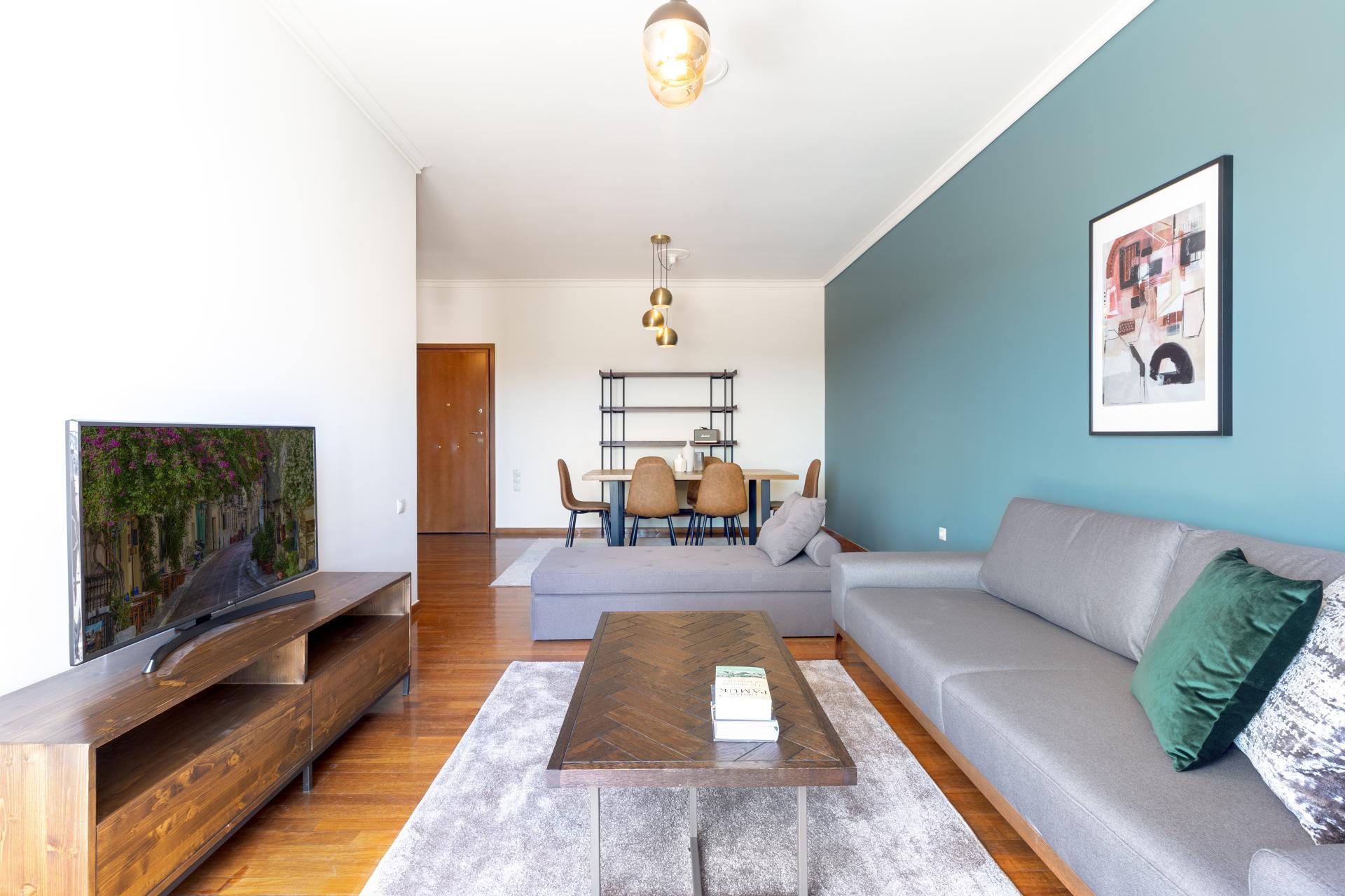 Open-plan at Acharnon Apartment - Citybase Apartments