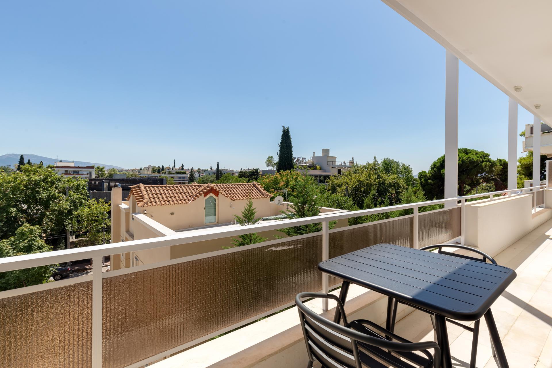 Balcony at Acharnon Apartment - Citybase Apartments
