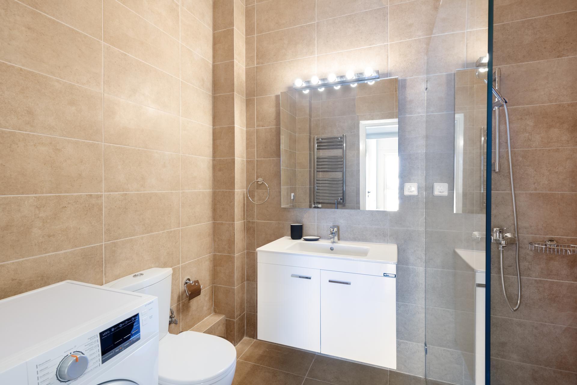 Bathroom at Acharnon Apartment - Citybase Apartments