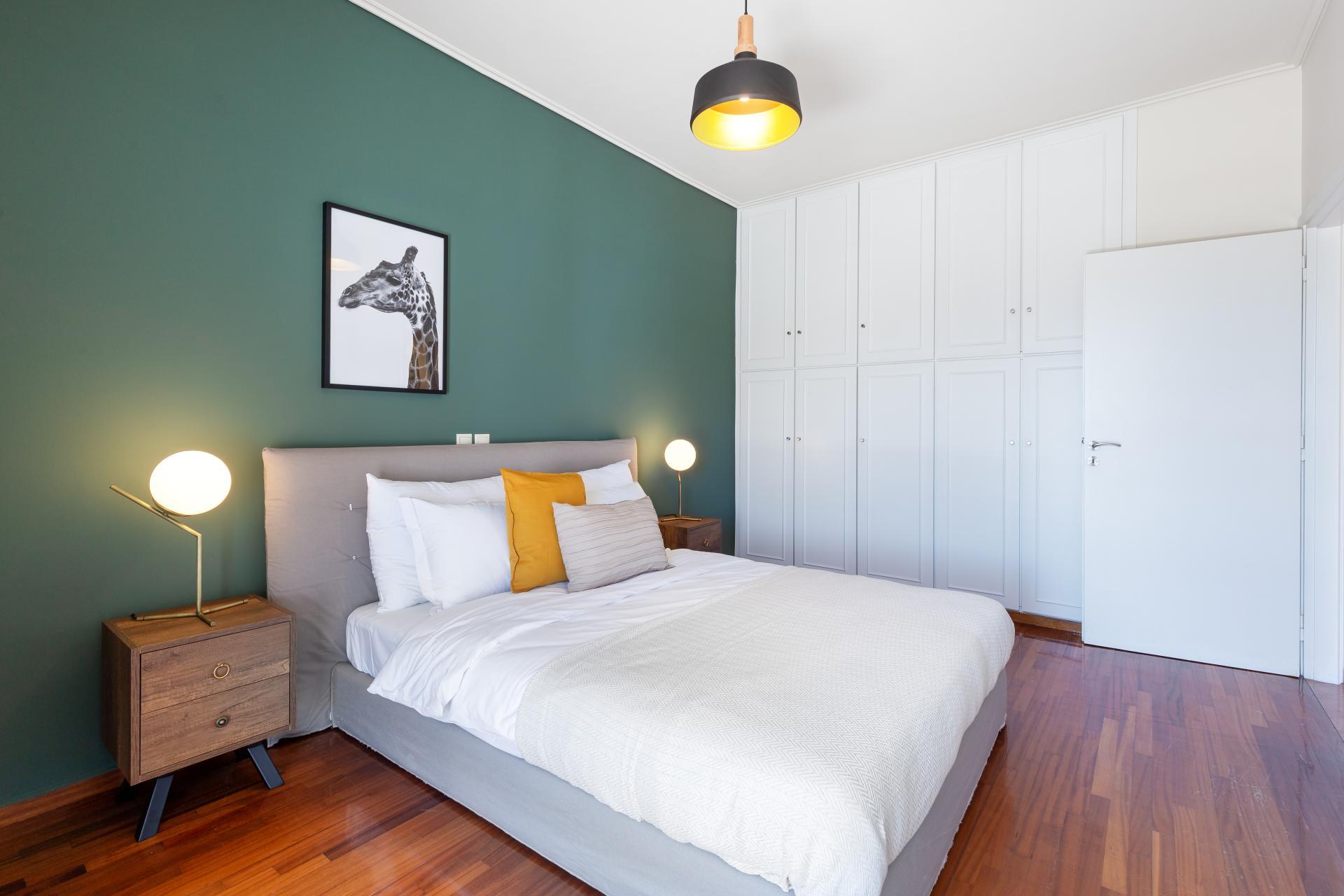 Green room at Acharnon Apartment - Citybase Apartments