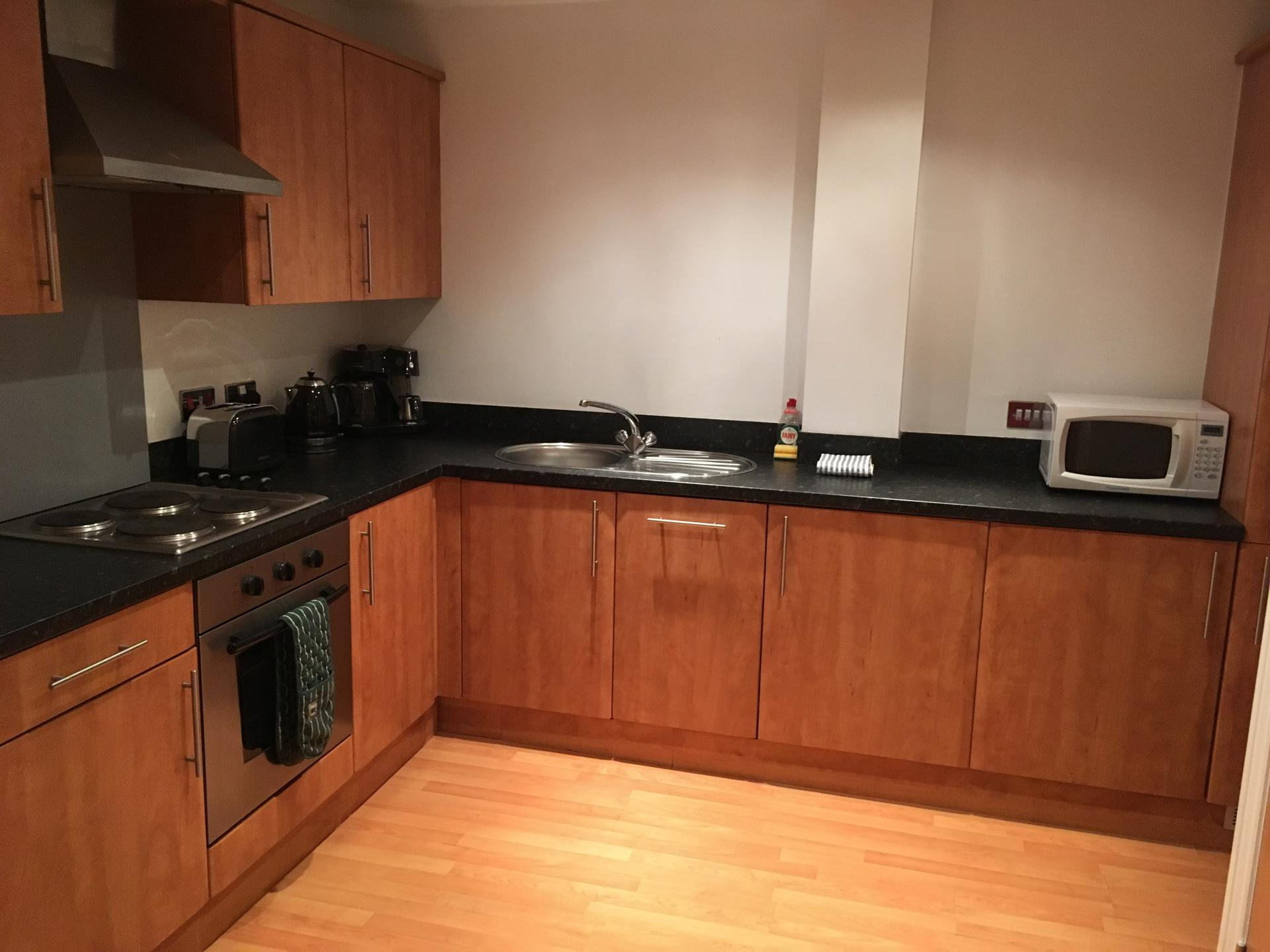 Kitchen at Curzon Place Apartments, Quayside, Newcastle - Citybase Apartments