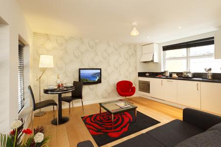 Living room at SACO Fleet Street - Crane Court - Citybase Apartments