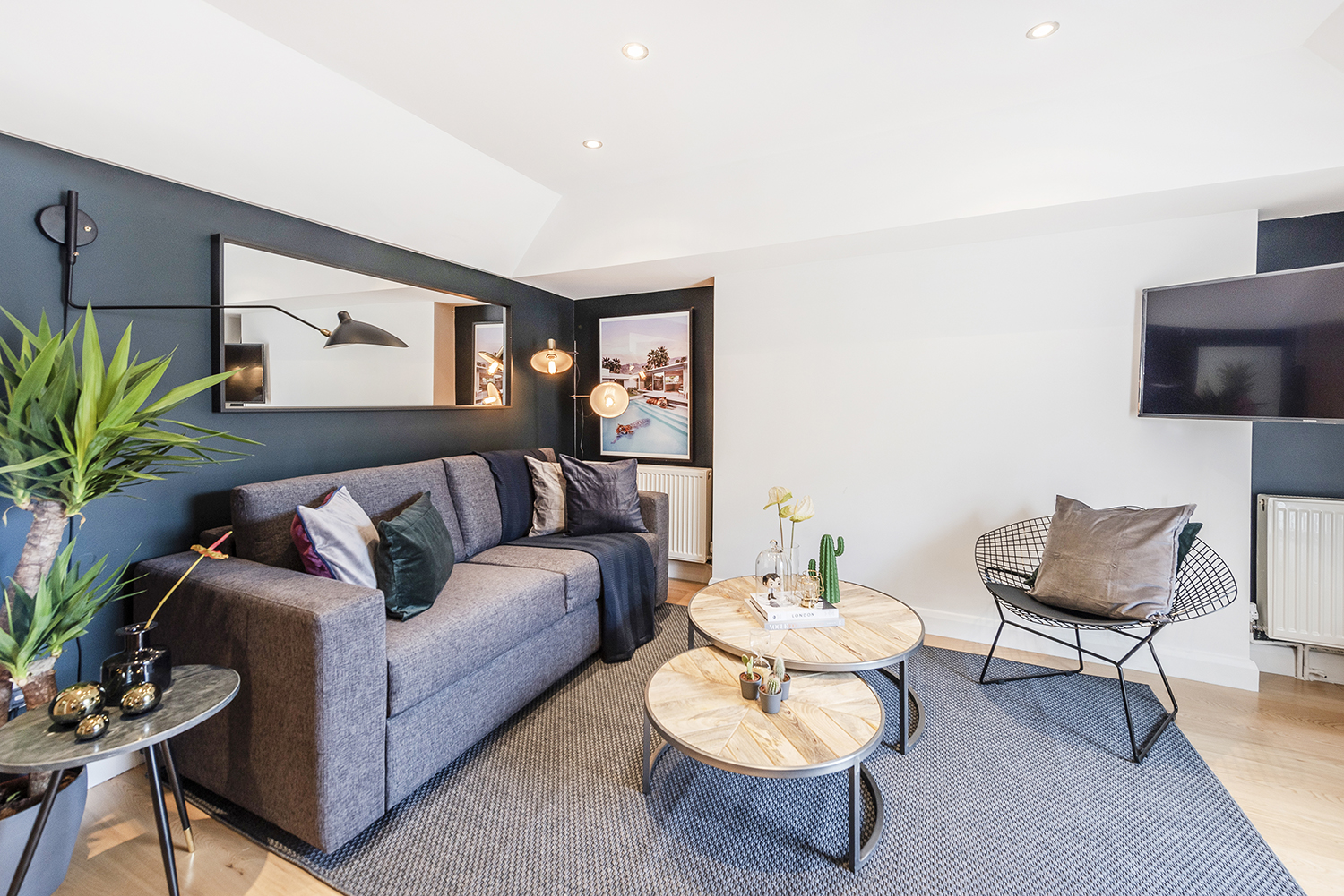 Living room at Percy Street Apartment - Citybase Apartments