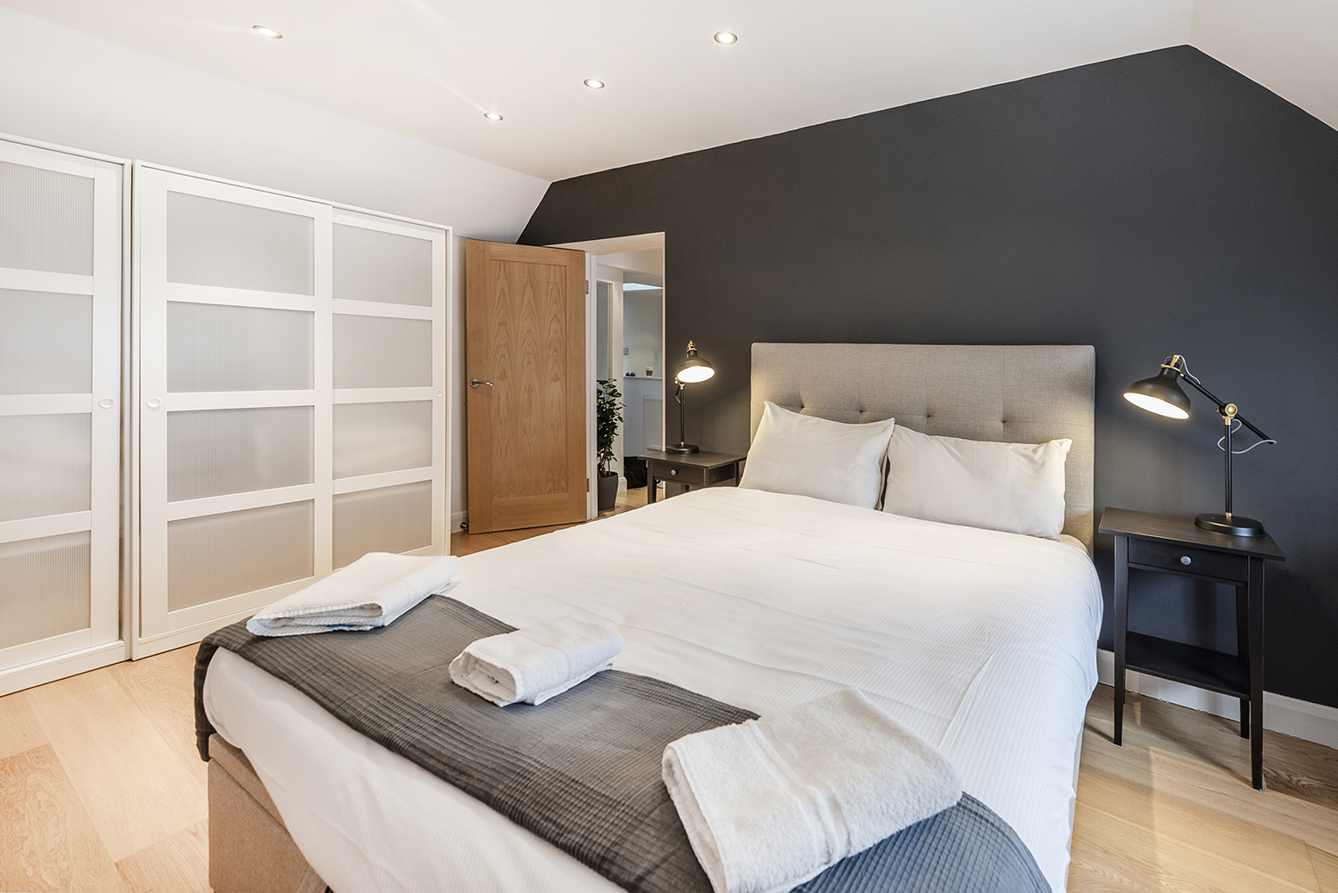 Bedroom at Percy Street Apartment - Citybase Apartments