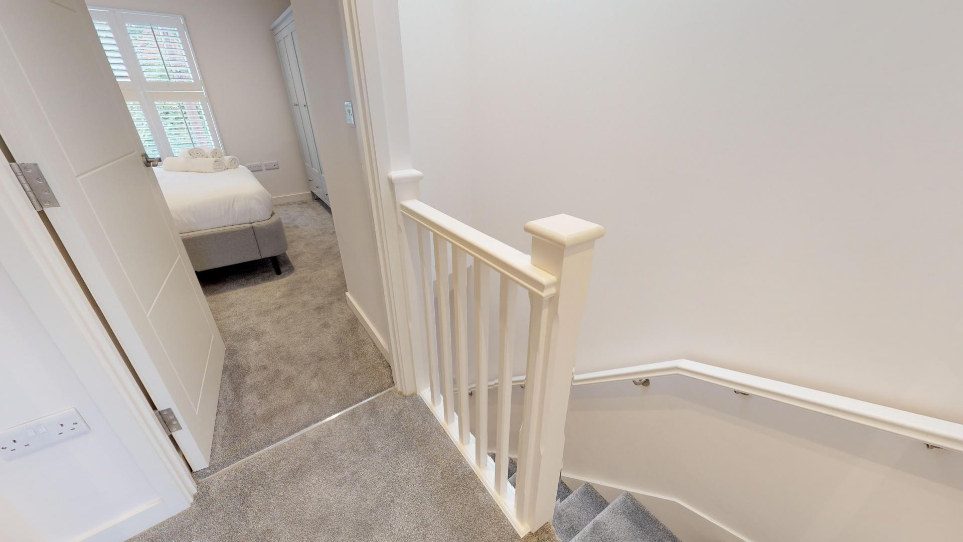 Stairs at Rogers Street House, Summertown, Oxford - Citybase Apartments