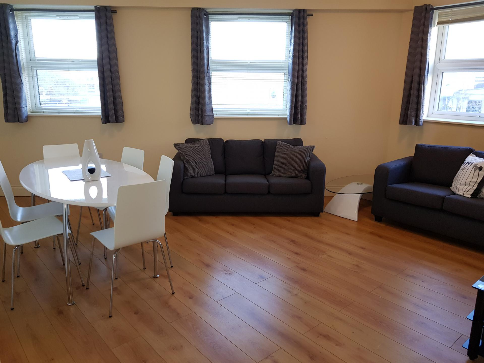 Living area at Victory House Apartments, Shirley, Southampton - Citybase Apartments