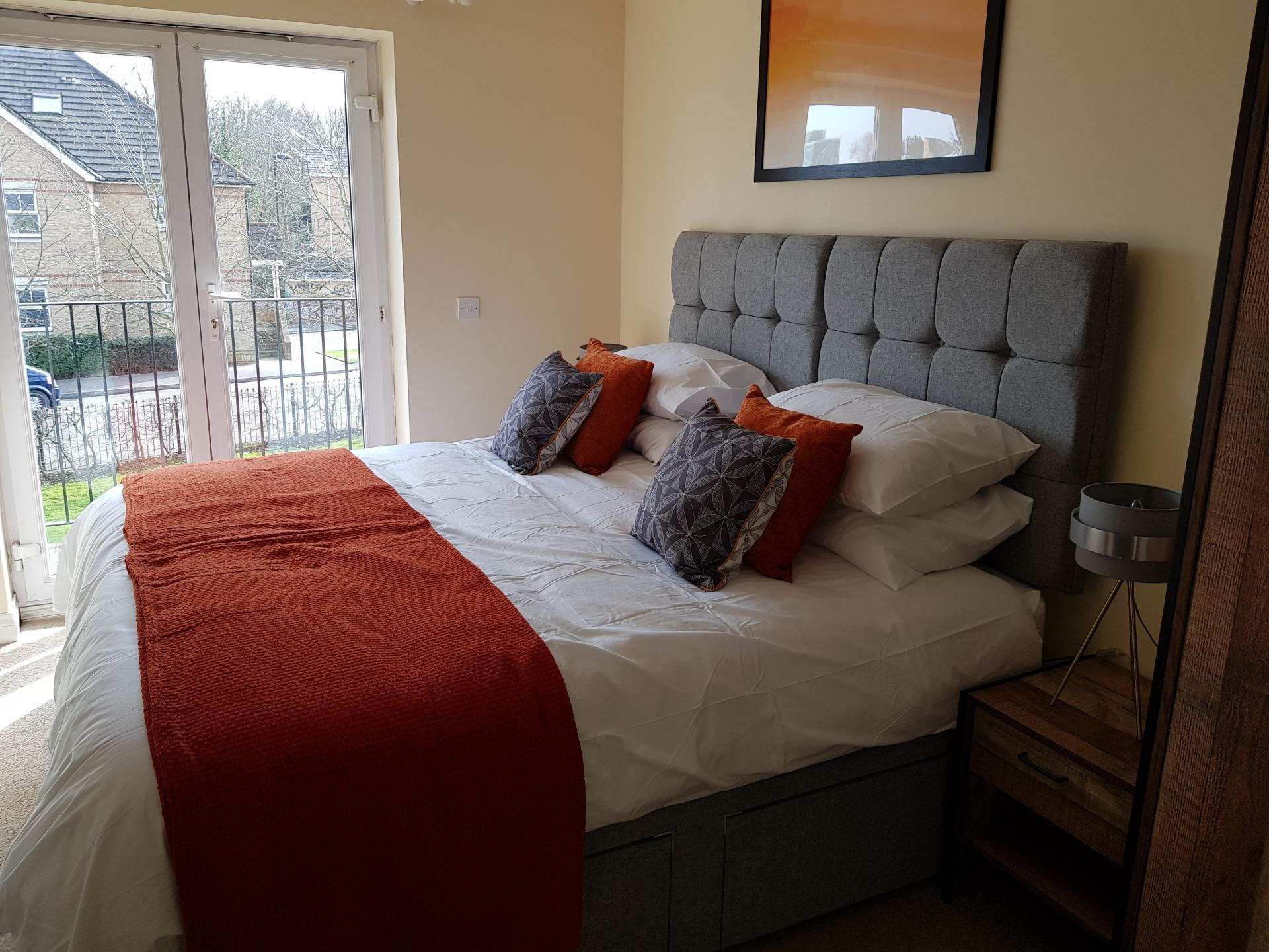 Bedroom at Le Tissier Court Apartment, The Polygon, Southampton - Citybase Apartments