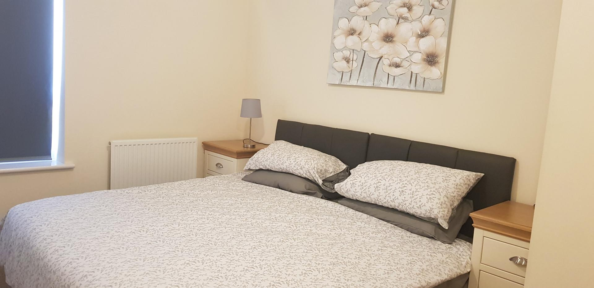 Bed at Moore Close Apartment, Inner Avenue, Southampton - Citybase Apartments