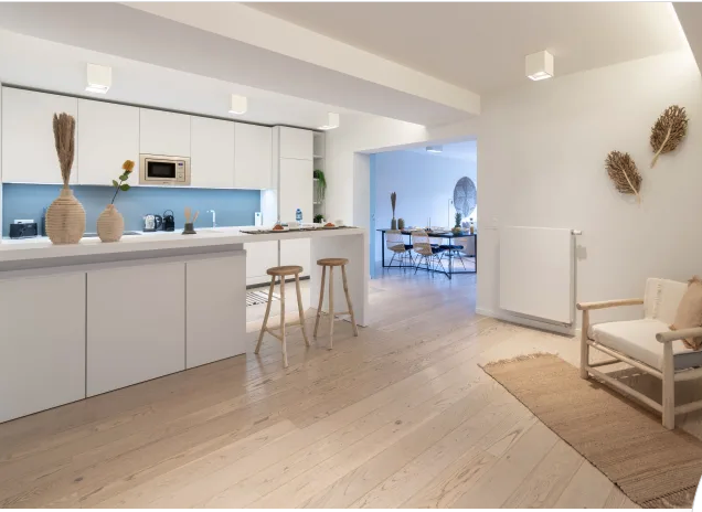 Spacious kitchen area at Waterloo Brussels Apartments - Citybase Apartments