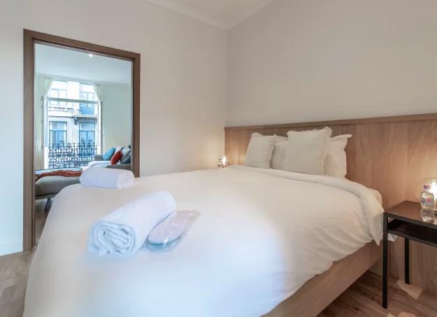 Bedroom at Dansaert Apartments, Centre, Brussels - Citybase Apartments