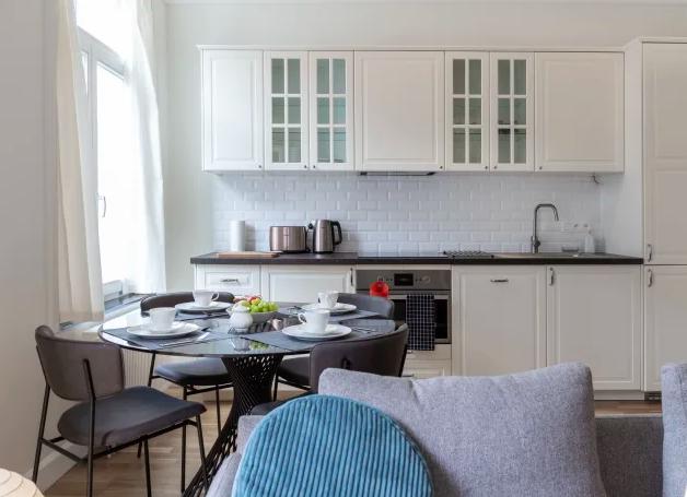 Kitchen at Dansaert Apartments, Centre, Brussels - Citybase Apartments